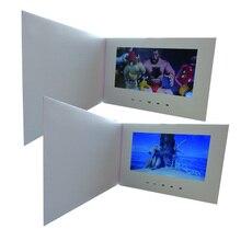 """Özelleştirme akıllı 10 """"LCD USB akıllı kapak 1080P renkli ekran LCD Video fotoğraf noel tebrik kartı medya oynatıcı"""