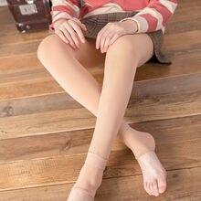Women Thermal Thick Leggings Warm Fleece Lined Fur Winter Pencil Pants Hot Sale Woman Trousers Solid Color Ladies Leggings