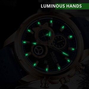 Image 4 - Mens שעונים למעלה מותג יוקרה MEGIR סיליקון צבאי ספורט שעון הכרונוגרף סטופר Relogio Masculino Reloj Hombre שעון גברים