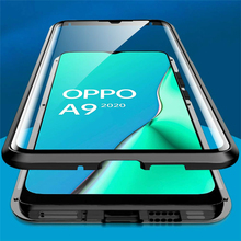 360 Double Sided Glass Case For OPPO A9 2020 Case Magnetic Metal Bumper Back Cover For OPPO A5 A 9 2020 A11 A11X Cases oppoa9 cheap Redpepper Flip Case Geometric Plain Transparent waterproof Dirt-resistant Anti-knock Adsorption for oppo a9 2020 a5 a92020 a11x magnetic glass filp phone case