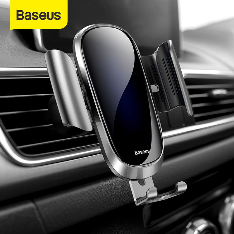Baseus Gravity Car Phone Holder Air Vent Clip Mount For IPhone X Samsung Mobilephone Car Support