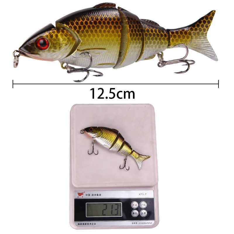 Poetryyi Merek 2020 Baru Leurre Peche Umpan Keras Memancing Berenang BRENGSEK Umpan 125 Mm 21.3G Perlahan Tenggelam Umpan untuk bass Pike Prech Salmon