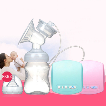 Electric Automatic Breast Pump With Milk Bottle Infant USB BPA free Powerful Breast Pumps Baby Breast Feeding Manual Breast Pump haier brillante brand usb electric breast pump lcd display postpartum breast feeding breast milk suckers breast pump bpa free