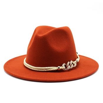 Black/white Wide Brim Simple Church Derby Top Hat Panama Solid Felt Fedoras Hat for Men Women artificial wool Blend Jazz Cap 14