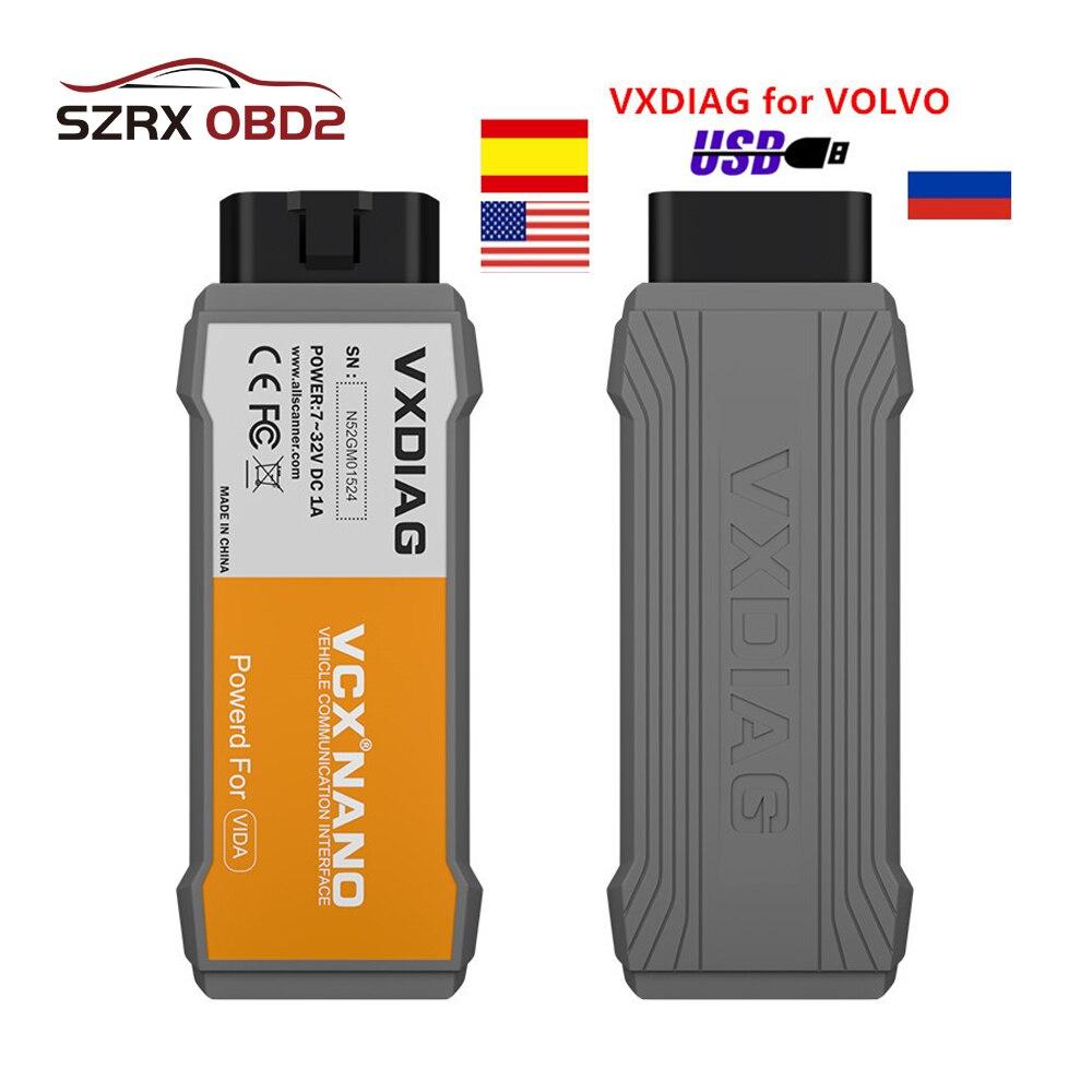 Neue VXDIAG VCX NANO Diagnose-Tool Für Volvo VIDA Dice Auto Scanner Tool Besser Als Vida Würfel 2014D Pro j2354
