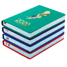 Agenda 2020 A5 Notebook Bullet Journal Year Month Weekly Planner Diary School Note Book Stationery Sketchbook Study Notepad tanie tanio 2020 notebook More than 100 pages Single loading Imitation leather Office manual Wire binding glazed printing paper carnet