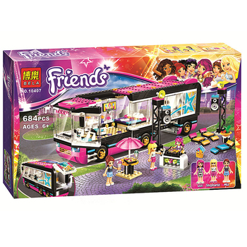 684Pcs Pop Star Tour Bus 10407 Friends Series Building Blocks Toys For Children Compatible With Lepinblock 41106