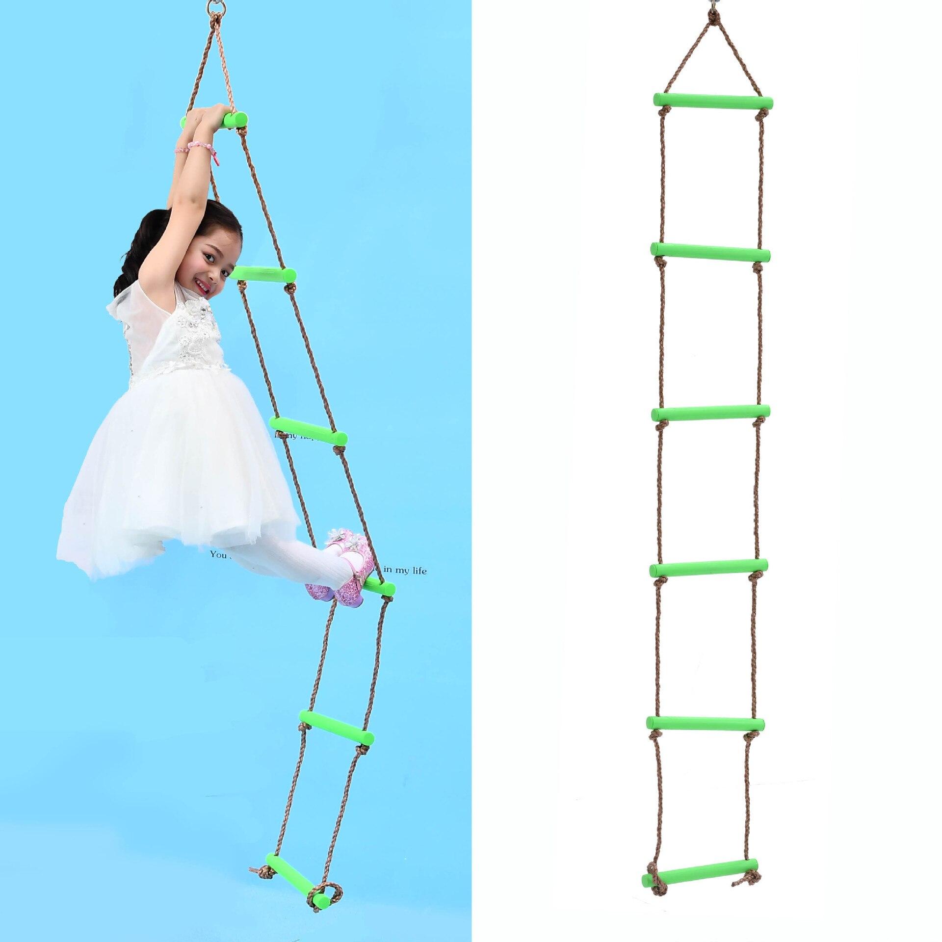 Six Gear Plastic Climbing Ladder Swing Outdoor Training Activity Safe Sports  Children Fitness Equipment For Kid Baby SwingLB374