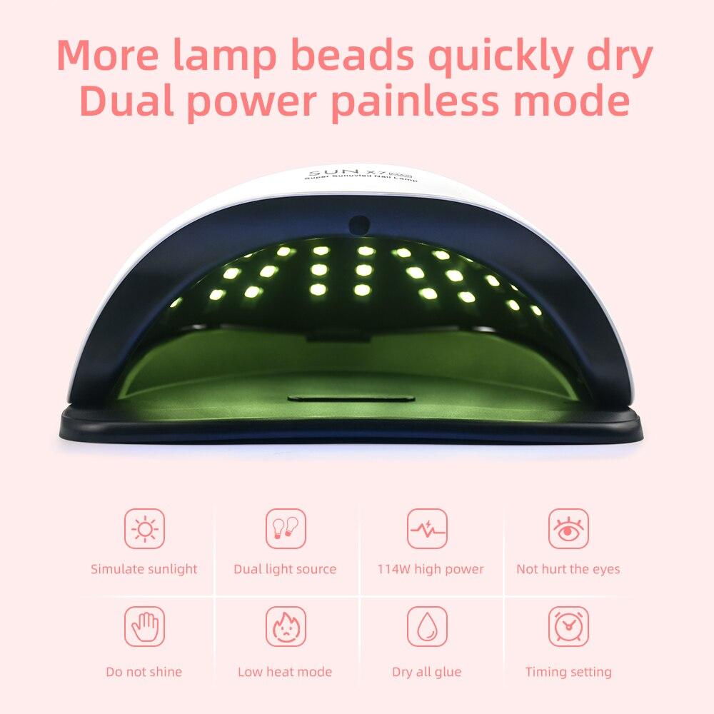 УФ светодиодный лампа для сушки гель лака ногтей 114 Вт 57 Дов