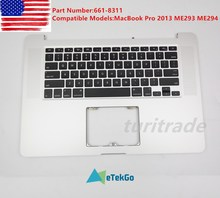 New Top case Palmrest w keyboard backlit For Macbook Pro Retina 15 A1398 2013 original late 2013 year for apple macbook pro 15 retina a1398 palm rest topcase with keyboard and touchpad us uk version