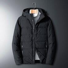 Jacket Coat Parka Down White-Duck-Down Winter Men's Casual Warm Black 4XL5XL Homme Long-Sleeve