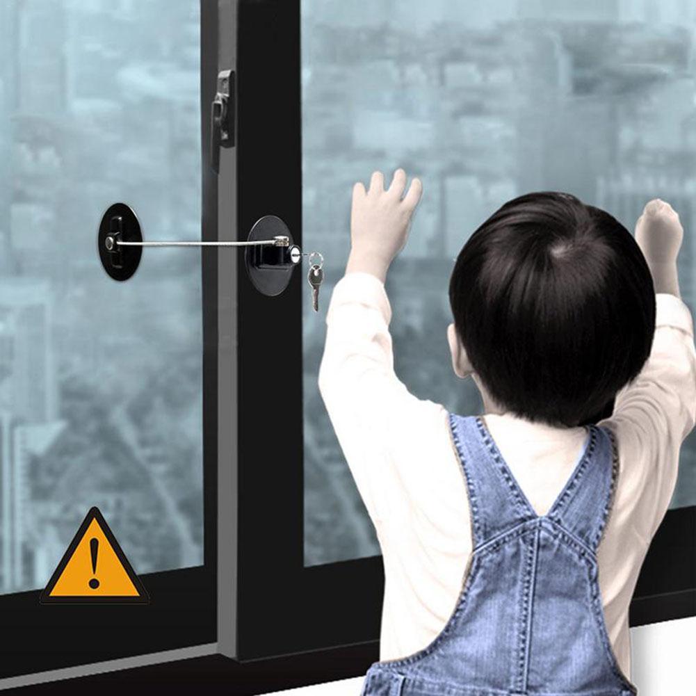 Baby Safety Protection Window Locks Children Safety Refrigerator Window Lock Baby Safety Supplies
