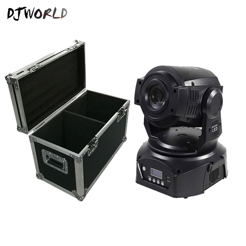 Flight Case 90W LED Spot Light Multiple Modes DJ Club Stage Lighting Home Party Disco Effect Moving Head Lamp Fast Shipping