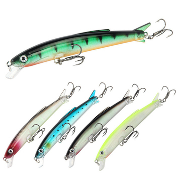 1PCS Jerkbaits Fishing Lures123mm/10g Artificial Bait Floating Water Hard Bait Minnow Lure High Quality Wobblers Fishing tackle 80mm 13g floating croatian egg fishing lure bait crank bait artificial swim bait wobblers fishing popper hard bait single hook