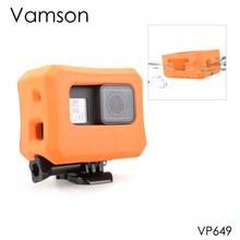 Vamson עבור מגן פרו מקרה כתום לצוף כיסוי עבור GoPro גיבור 7 6 5 שחור 7 כסף לבן עמיד למים מקרה מצלמה אבזר