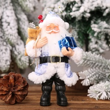 Resin Santa Claus Doll Christmas santa claus doll Holiday Figurine Collection Ornament Gift Table Decoration cheap YH