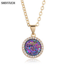 Женские блестящие ожерелья с кристаллами shinygem 2020 вечерние