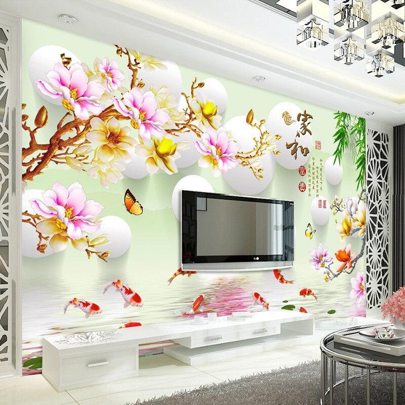 TV Background Wallpaper Mural Bedroom Living Room Wallpaper Seamless Non-woven Wallpaper 12D Stereo Bump Mural