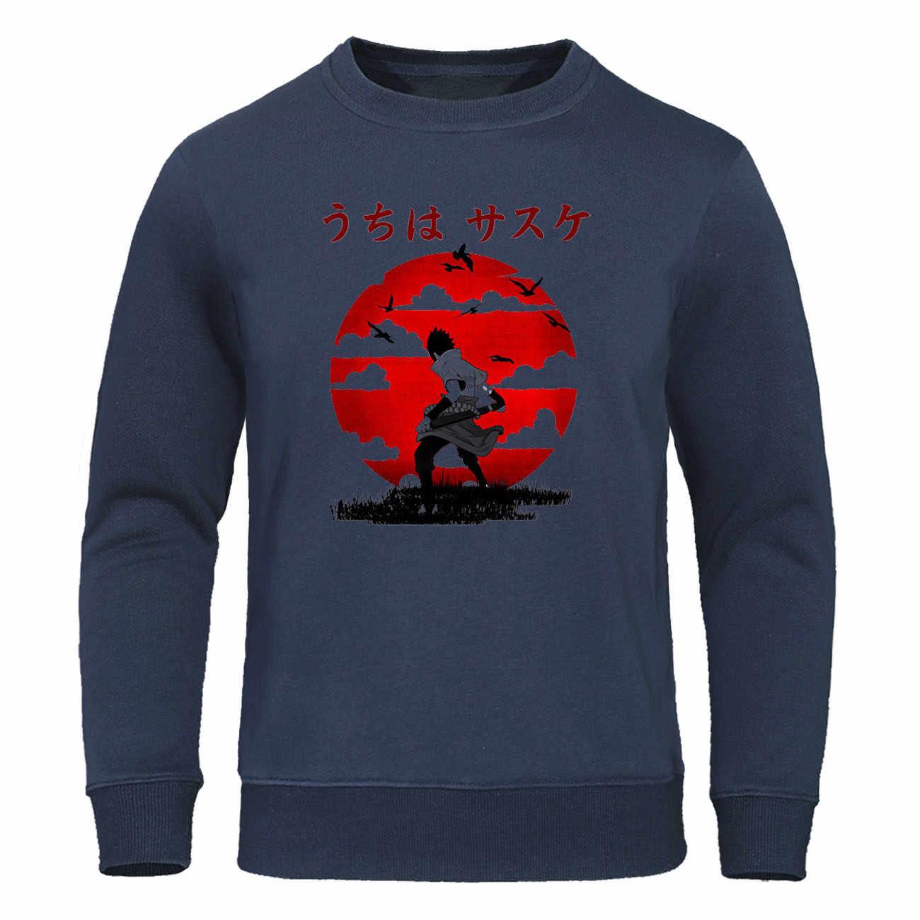 Naruto Männer Kleidung der Japan Anime Hoodies Uchiha Sasuke Itachi Pullover Samurai Sweatshirts Streetwear Männer Casual Harajuku Hoody
