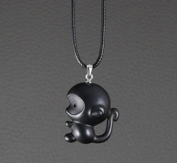 East size direct selling ebony Zodiac Monkey Pendant female clavicle Necklace Pendant simple mascot