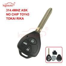 Дистанционный ключ kigoauto tokai rika 3 кнопки toy43 для toyota