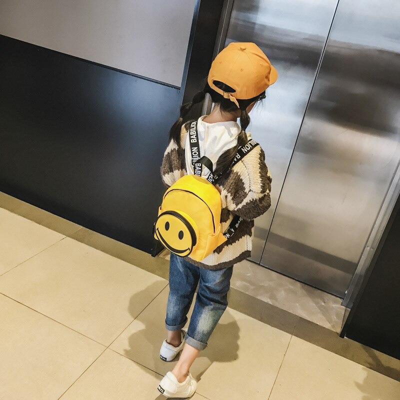 Children Backpack Baby Play BOY'S Women's Cute Smiley Mini School Bag Unisex Casual Trendy Bag Small Bag