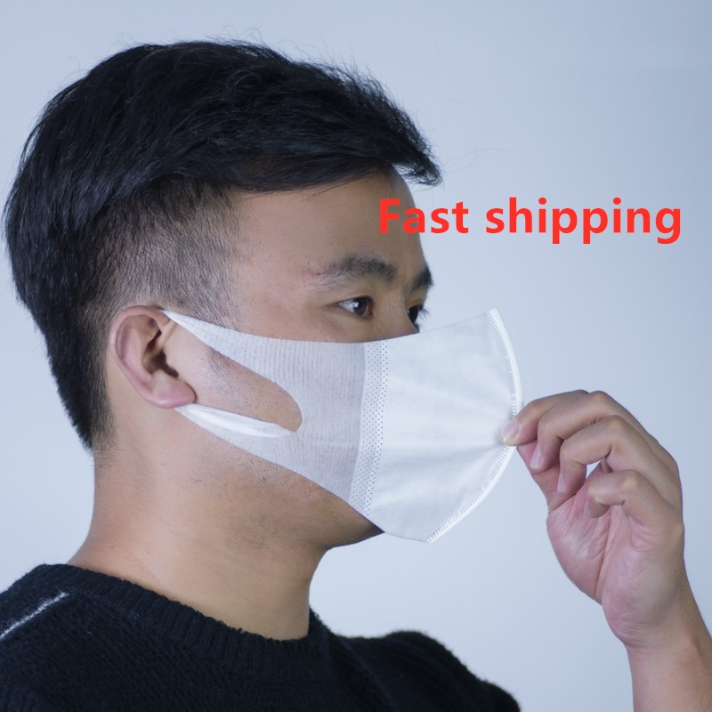 50Pcs Boy Girl Kids Masks 3 Layer Anti-dust Disposable Mask Adult Child Unisex Combinaison Virus Mask Masque Virus Covid 19 Test