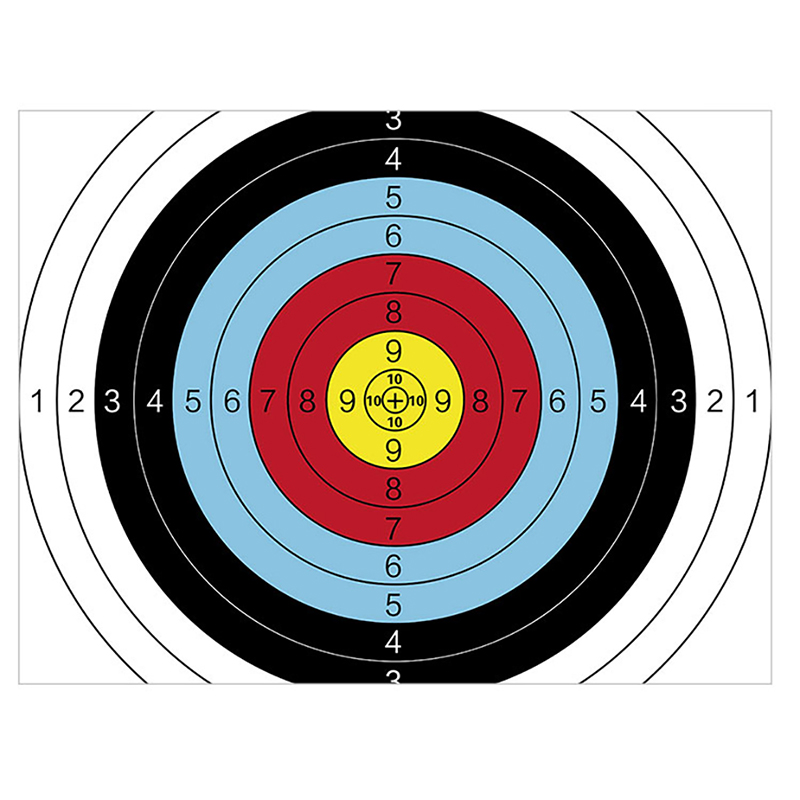 1pc Practice Archery Target Paper Practice Durable Shooting Target Faces Prop Archery Darts Paper Amusement Accessories Exercise