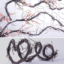 300cm Artificial Fake Foliage Plant Flexible Flower Vines Real Touch Branches Liana Wall Hanging Rattan Wedding Decoration
