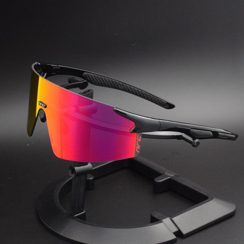 NRC 3 Lens UV400 Cycling Sunglasses TR90 Sports Bicycle Glasses MTB Mountain Bike Fishing Hiking Riding Eyewear