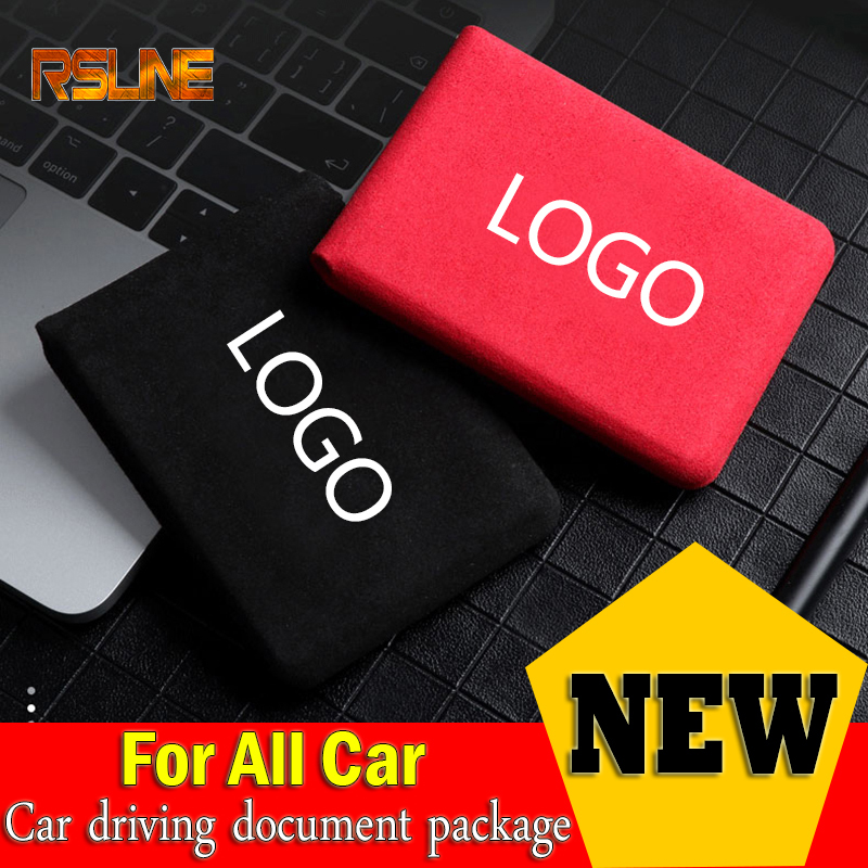 Best selling Car driving document package license holster two-in-one ID folder For Toyota Nissan Audi Skoda Opel Lada Bmw kia image