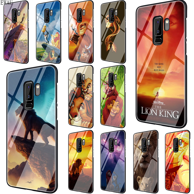 EWAU The Lion King Tempered <font><b>Glass</b></font> phone <font><b>case</b></font> for <font><b>Samsung</b></font> S7 Edge S8 S9 S10 Note 8 9 10 Plus <font><b>A10</b></font> 20 30 40 50 60 70 image