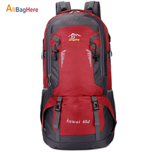 Outdoor 40L 60L Large Capacity Backpacks Men Women Laptop Casual Sports Travel Bags Softback Waterproof Climbing Hiking Backpack