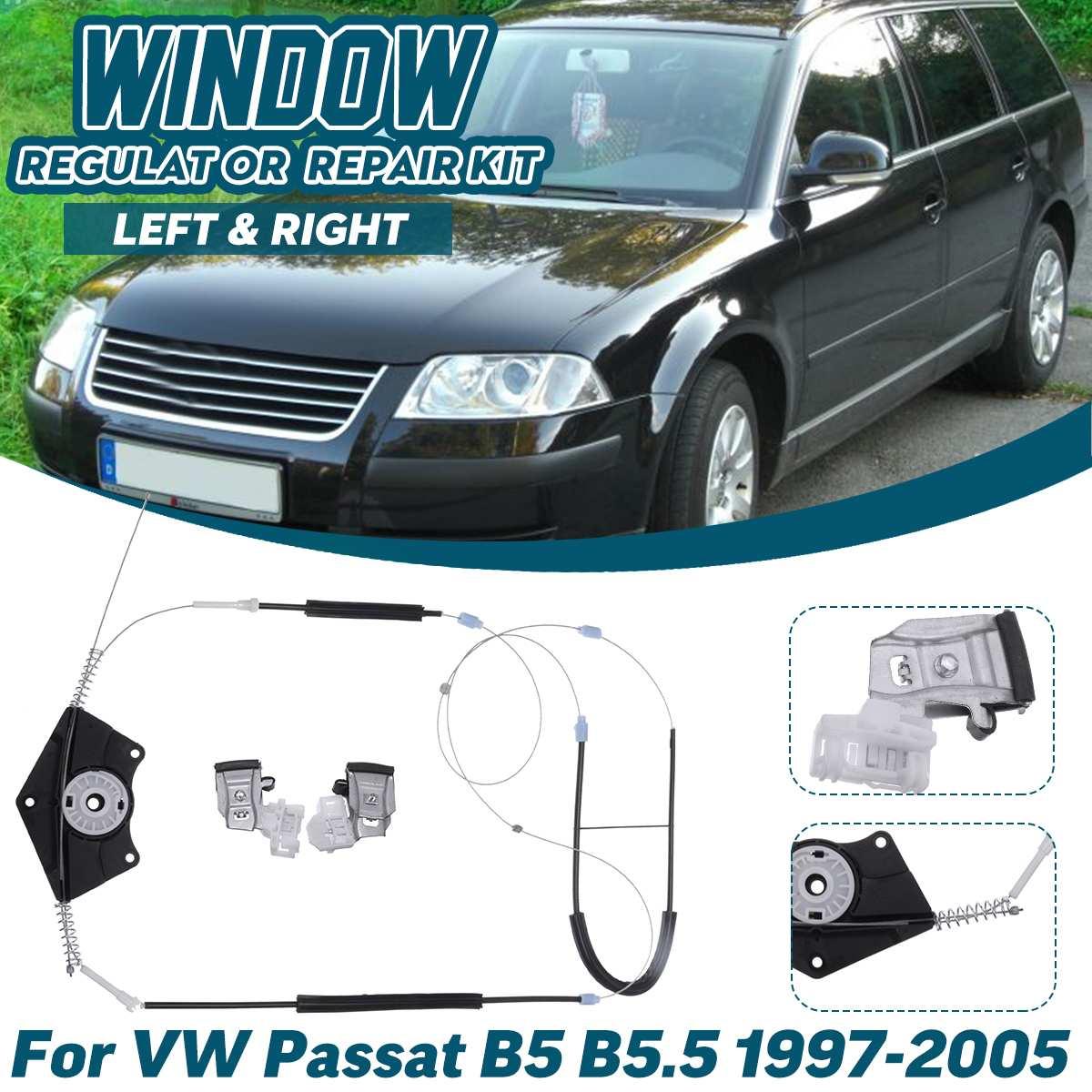 Left Right Car Window Regulator Repair Kit For Volkswagen For VW Passat B5 B5.5 1997 1998 1999 2000 2001 2002 2003 2004 2005