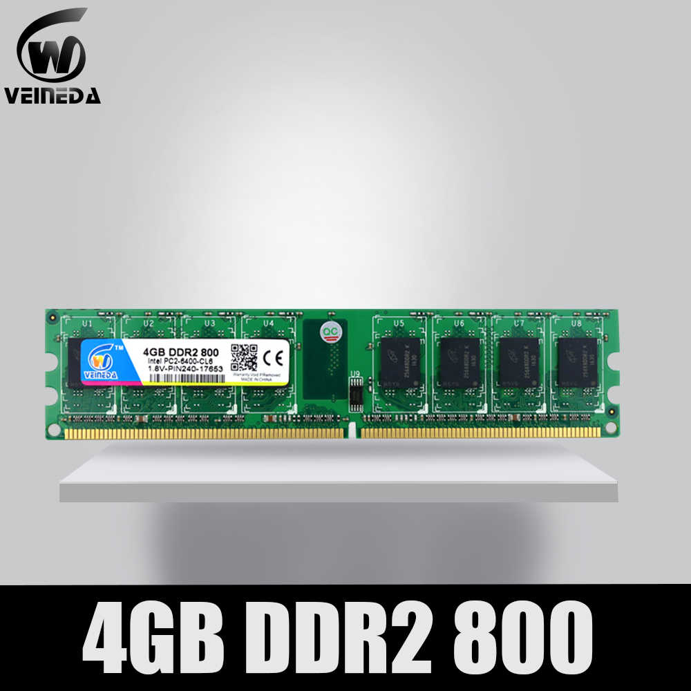 VEINEDA Memoria Ram ddr2 4 gb 800 pc2-6400 kompatybilny ddr2 4 gb 667 PC5300 dla Intel AMD Mobo
