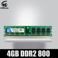VEINEDA Memoria Ram ddr2 4gb 800 pc2 6400 Compatible ddr2 4 gb 667 PC5300 for Intel AMD Mobo