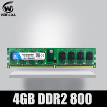 VEINEDA Memoria Ram ddr2 4 gb 800 pc2-6400 uyumlu ddr2 4 gb 667 PC5300 Intel AMD Mobo