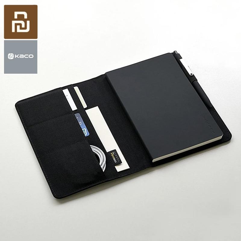 Youpin Kaco A5 ноутбук умный дом благородная бумага PU слот для карты бумажник книга для офиса путешествия с подарком