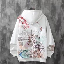 Anime Hoodies Sweatshirts Chinese Style Men Black Hoodies Sweatshirts Harajuku Oversized Pullovers Sweatshirts For Women CS455