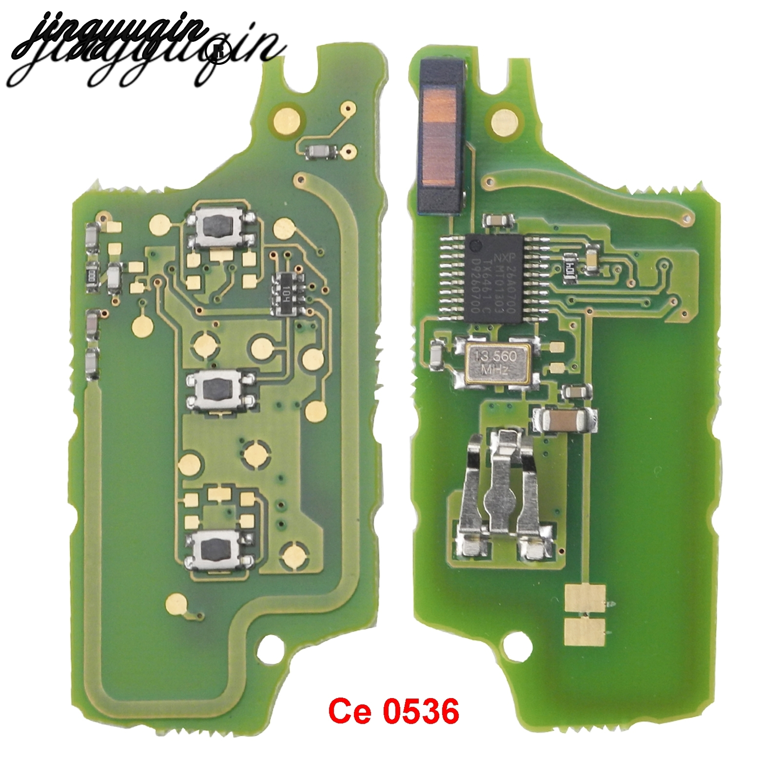 Jingyuqin ASK Автомобильный ключ электронная печатная плата для Peugeot 407 407 307 308 607 SW Citroen C2 C3 C4 C5 CE0536 Ce0536 2 кнопки