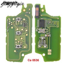 Jingyuqin placa de circuito eletrônica, ask, para chave de carro, para peugeot 407 407 307 308 607 sw citroen c2 c3 c4 botão c5 ce0536 ce0536 2