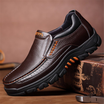 Men's Genuine Leather High Grip Shoes