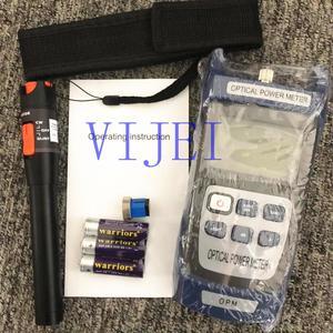 Image 1 - 2 in1 kit de ferramentas de fibra óptica ftth medidor de potência de fibra óptica 70 + 10dbm e vfl 10mw localizador visual de falhas caneta de teste de fibra óptica