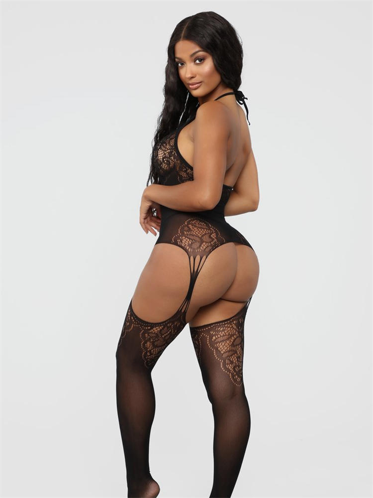 Sexy Lingerie Nightwear Babydoll-Dress Erotic-Costumes Porn Open-Crotch Transparent Plus-Size