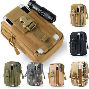 Military Tactical Waist Bag Outdoor Belt Pack Camping Outdoor Waterproof Tactical Bag Waist Molle Pouch Fanny Phone Pocket Pouch men tactical molle pouch belt waist pack bag small pocket military waist pack phone pouches outdoor running travel camping bags