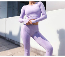 New Seamles Gym Clothing Women Gym Yoga Set Fitness Workout Sets Yoga Outfits For Women's Sportswear suit Women Athletic Legging(China)