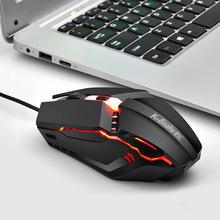 M11 Gaming Electronic Sports RGB Streamer biegnący koń Luminous USB przewodowy komputer komputer 1600DPI myszka do laptopa obie ręce tanie tanio CN (pochodzenie) 135g Optoelektroniczne Dla palców Viper Notebook Computer Optical Mouse