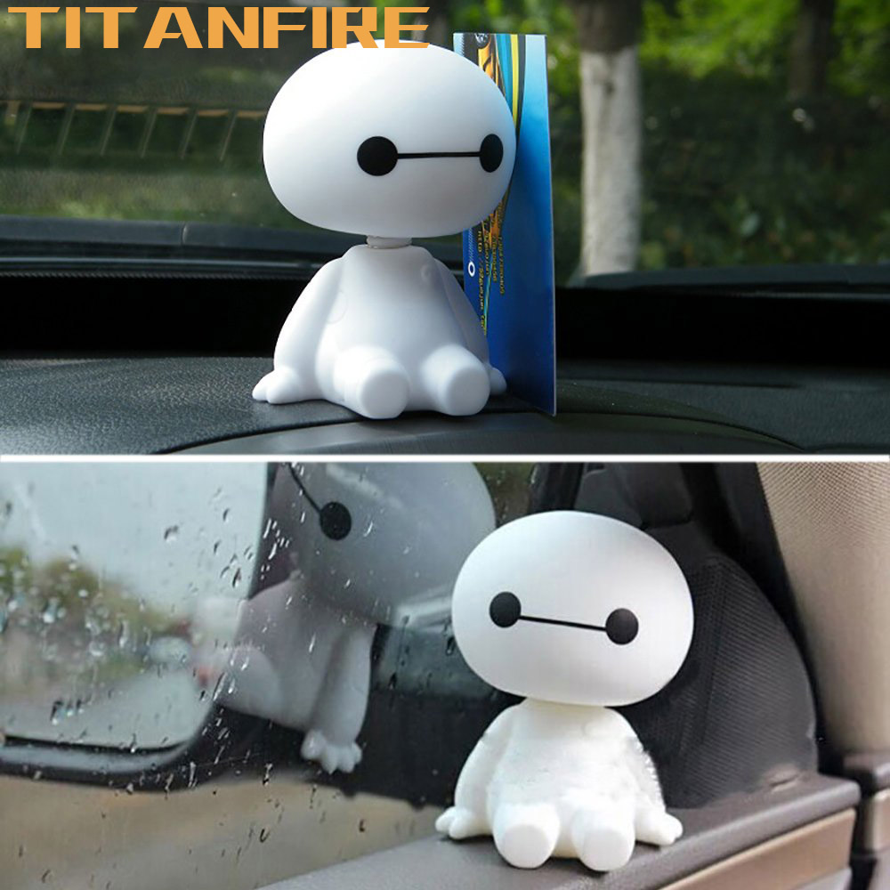 TF30 Cartoon Car Ornaments Plastic Shaking Baymax Robot Auto Figure Interior Decorations Big Hero Doll Toy Accessories Ornament
