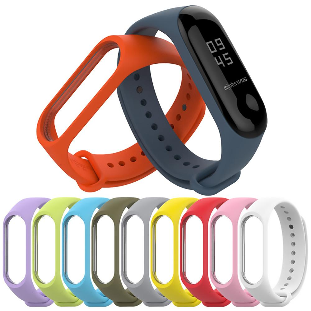 Sport Strap Watch Smart Bracelet Silicone Strap Bracelet For Xiaomi Mi Band 3 4 Replacement Strap For MI Band 3 Smart Bracelet
