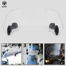 ROAOPP Universal Motorcycle Windshield Risen Adjustable Wind Screen Spoiler Air Deflector For Honda BMW Yamaha Kawasaki Suzuki
